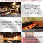 Tokyo Japanese Steakhouse & Sushi Bar Announces Southeast Texas New Year's Eve Specials