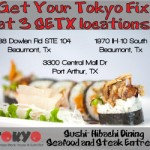 Beaumont Lent Specials at Tokyo Japanese Steakhouse & Sushi Bar
