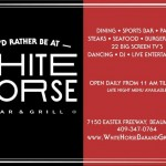 Wednesday Night is Karaoke Night at White Horse Bar and Grill