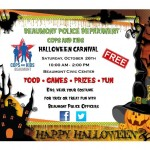 Cops & Candy! Beaumont Police Department Trunk-or-Treat & Haunted Jail