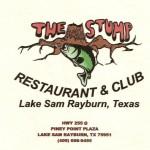 Sam Rayburn Restaurant Guide – The Stump