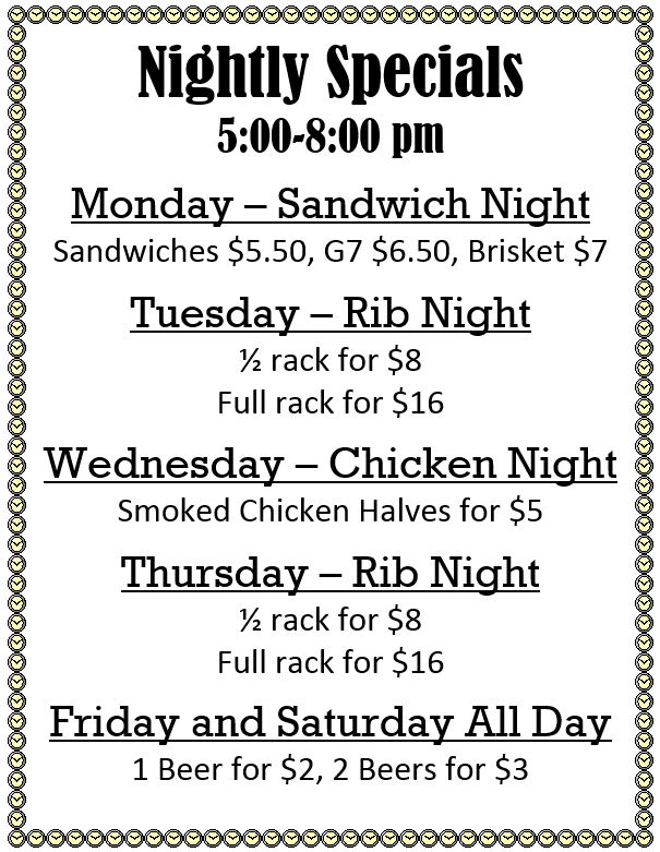 Boomtown BBQ - Beaumont Barbecue Specials - 2015