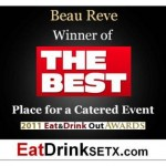 Beau Reve Eat Drink SETX  2011 Award Certificate for facebook or online smaller