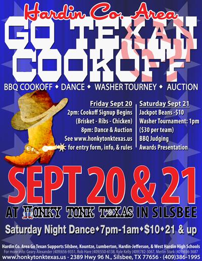 Hardin County Go Texan Cookoff Honky Tonk TX