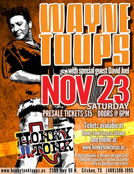 Honky Tonk Texas Wayne Toups 11-23-13