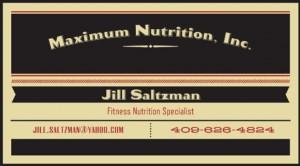Maximum Nutrition Jill Saltzman
