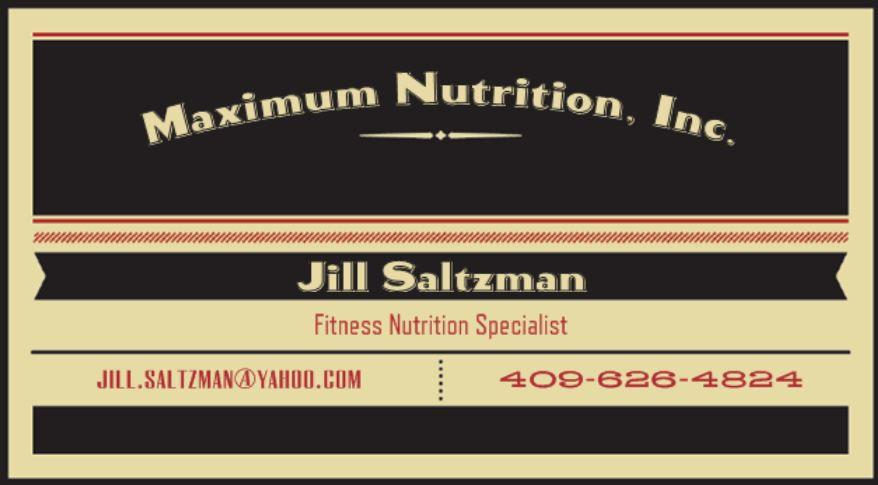 Maximum Nutrition Jill Saltzman