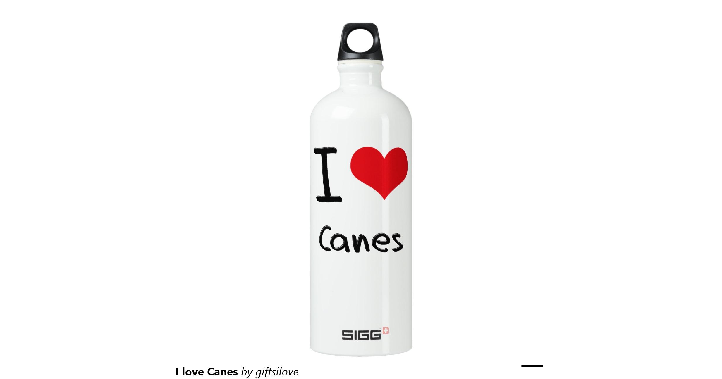 Raising Cane's Peel the Love water bottle