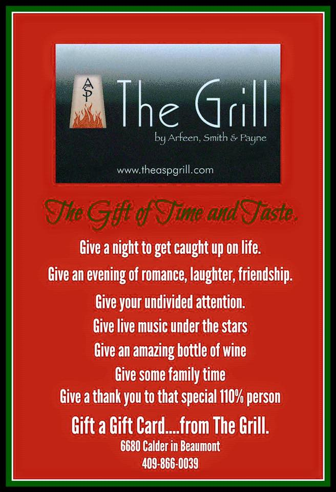 the-grill-beaumont-tx-holiday-shopping