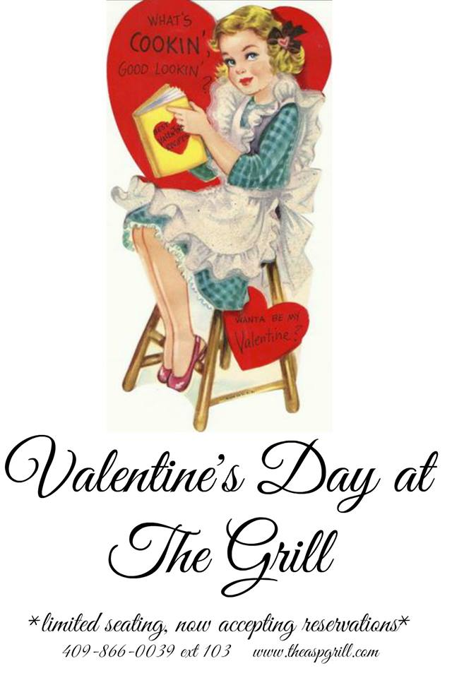 Valentine's Day reservation Beaumont TX, Valentine's Day ideas Beaumont TX, romantic restaurant Beaumont TX, The Grill Beaumont TX