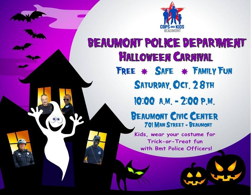 Halloween Beaumont TX, Halloween Carnival Beaumont TX, Beaumnt Police Carnival