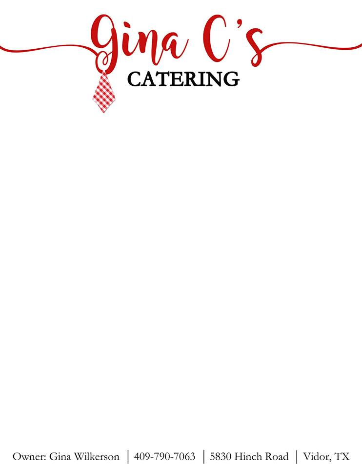 SETX Catering, Southeast Texas caterer, Golden Triangle Catering, Gina C's Port Arthur