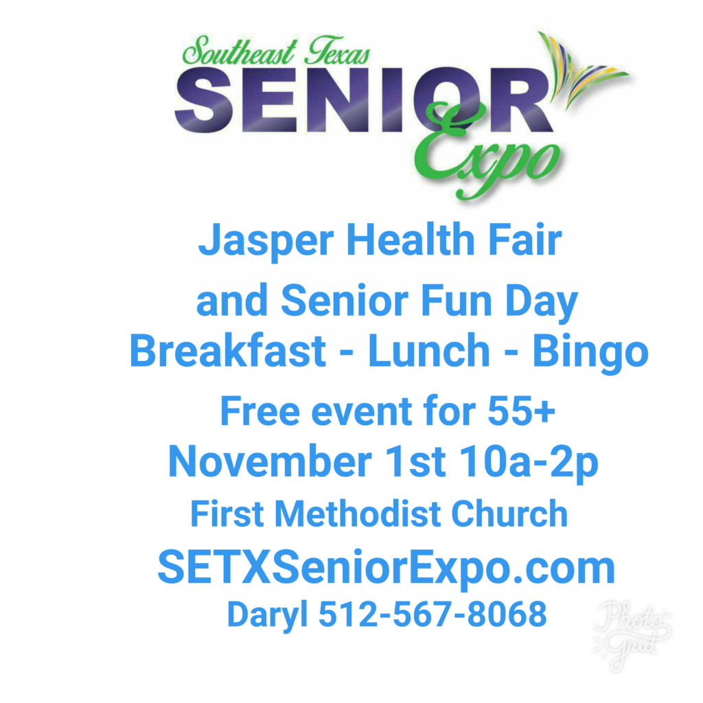 senior expo Jasper TX, Senior expo East Texas, senior events Houston TX, senior expo Houston TX, senior activities Texas