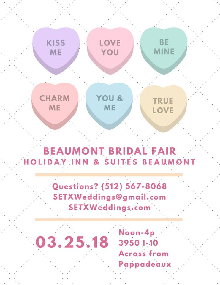 Beaumont Bridal Fair, Port Arthur Bridal Fair, SETX wedding events, Golden Triangle wedding events