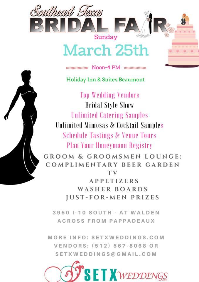 Beaumont Bridal Fair, Bridal Extravaganza Southeast Texas, wedding events SETX, Port Arthur Bridal Fair, Golden Triangle event booths